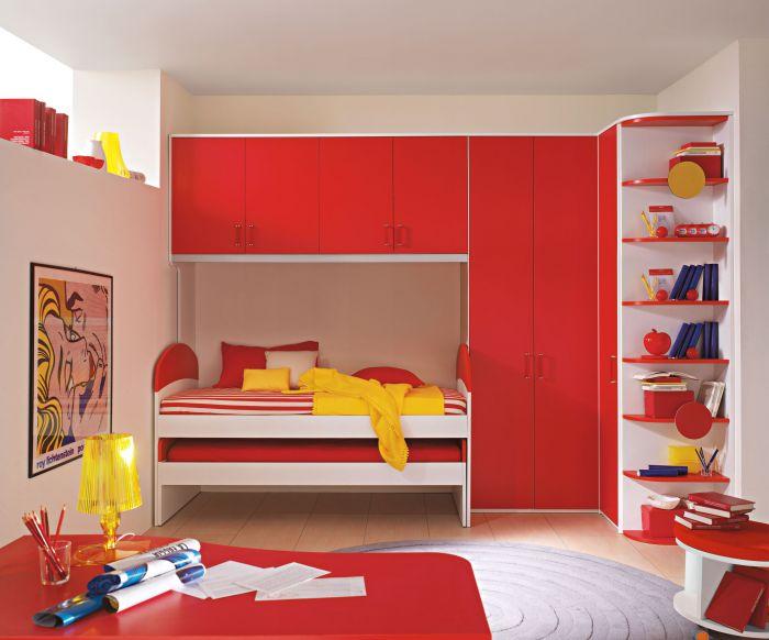 mobila rosie camera copii